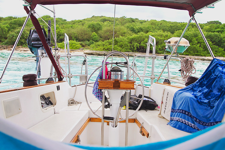 Sailing-Blog-Cruising-Caribbean-Puerto-Rico-Coffin-Island-Anchored-During-Riding-Out-Storm-Radar-Tropics-LAHOWIND-eIMG_4615