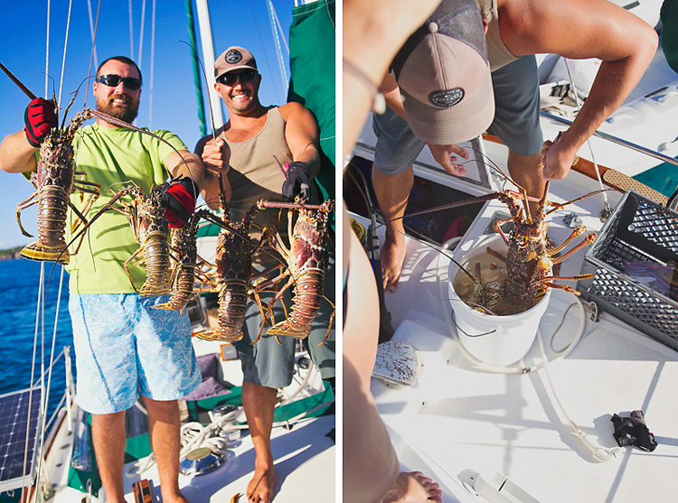 Sailing-Blog-Cruising-Caribbean-USVI-St.-Thomas-Lobster-Hunting-Diving-Photos-LAHOWIND-Young-Couple-Boat-Life-1