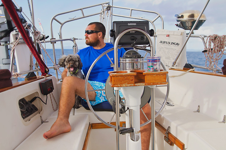 Sailing-Blog-Cruising-Caribbean-Young-Couple-Boat-Dog-Puerto-Rico-Vieques--to-Culebra-Spanish-Virgin-Islands-Sailboat-Fishing-King-Mackerel-Fish-LAHOWIND-eIMG_5841