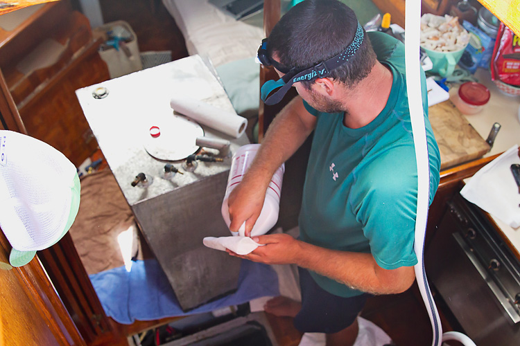 Sailing-Blog-Cruising-Caribbean-Puerto-Rico-Puerto-Real-Marina-Pescaderia-Diesel-Fuel-Tank-Leak-Fix-Boat-Projects-LAHOWIND-Sailboat-Endeavour-37-eIMG_3461