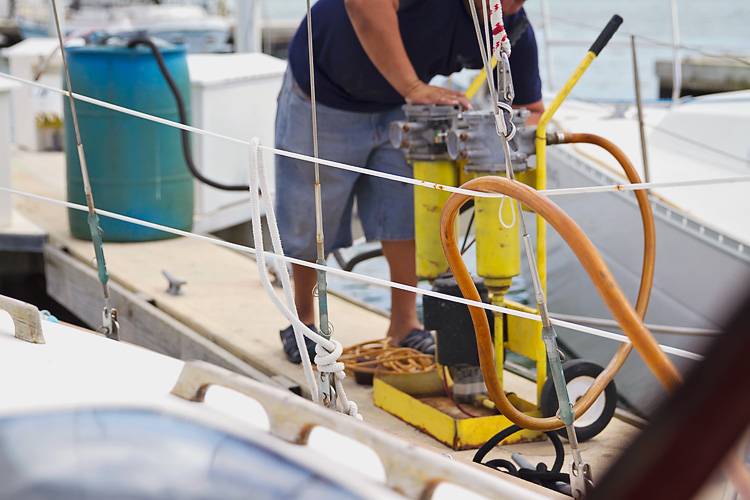Sailing-Blog-Cruising-Caribbean-Puerto-Rico-Puerto-Real-Marina-Pescaderia-Diesel-Fuel-Tank-Leak-Fix-Boat-Projects-LAHOWIND-Sailboat-Endeavour-37-eIMG_3519