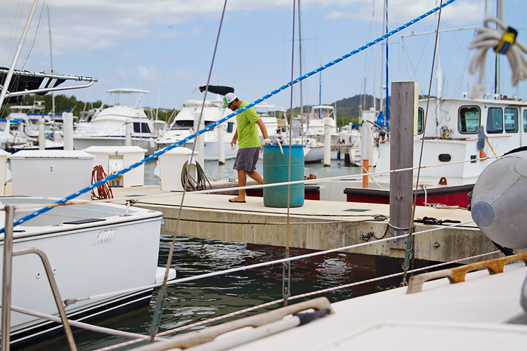 Sailing-Blog-Cruising-Caribbean-Puerto-Rico-Puerto-Real-Marina-Pescaderia-Diesel-Fuel-Tank-Leak-Fix-Boat-Projects-LAHOWIND-Sailboat-Endeavour-37-eIMG_3546
